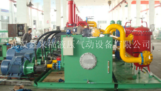 Double servo automatic press hydraulic system, eight-axis synchronous hydraulic system