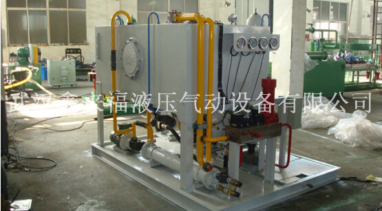 Hydraulic pump station, rolling mill hydraulic station