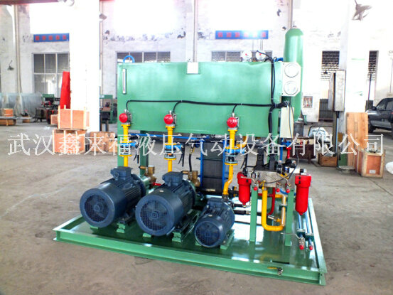 Press on the hydraulic pump station, the hydraulic system of the horizontal casting mill